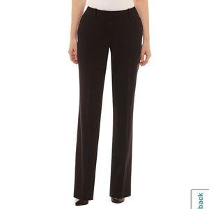 Worthington Curvy Fit Black Trouser Work Pants